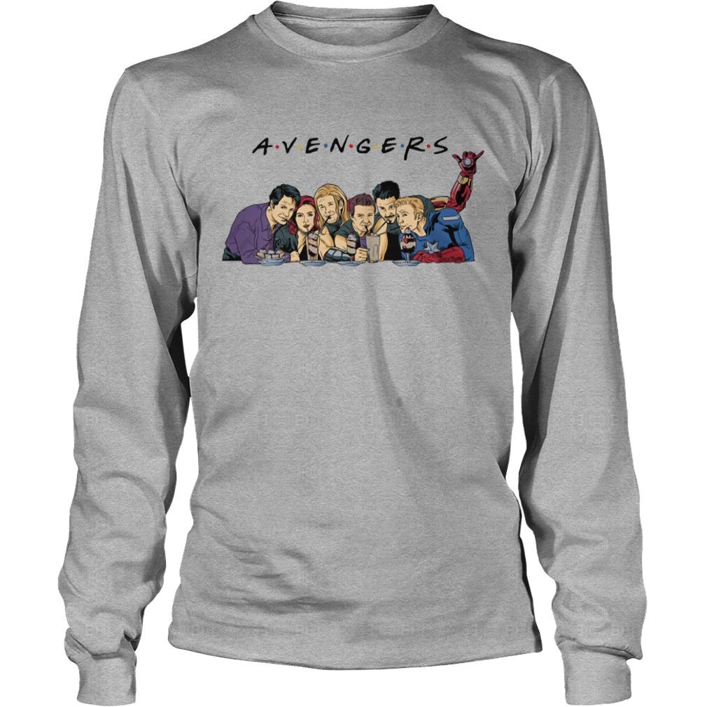Avengers Endgame drink water Captain America Thor Iron man shirt unisex longsleeve tee