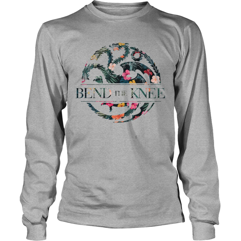 Bend the knee Game of Thrones Flower shirt unisex longsleeve tee