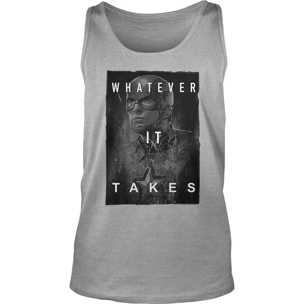 Captain America whatever it take shirt unisex tank top