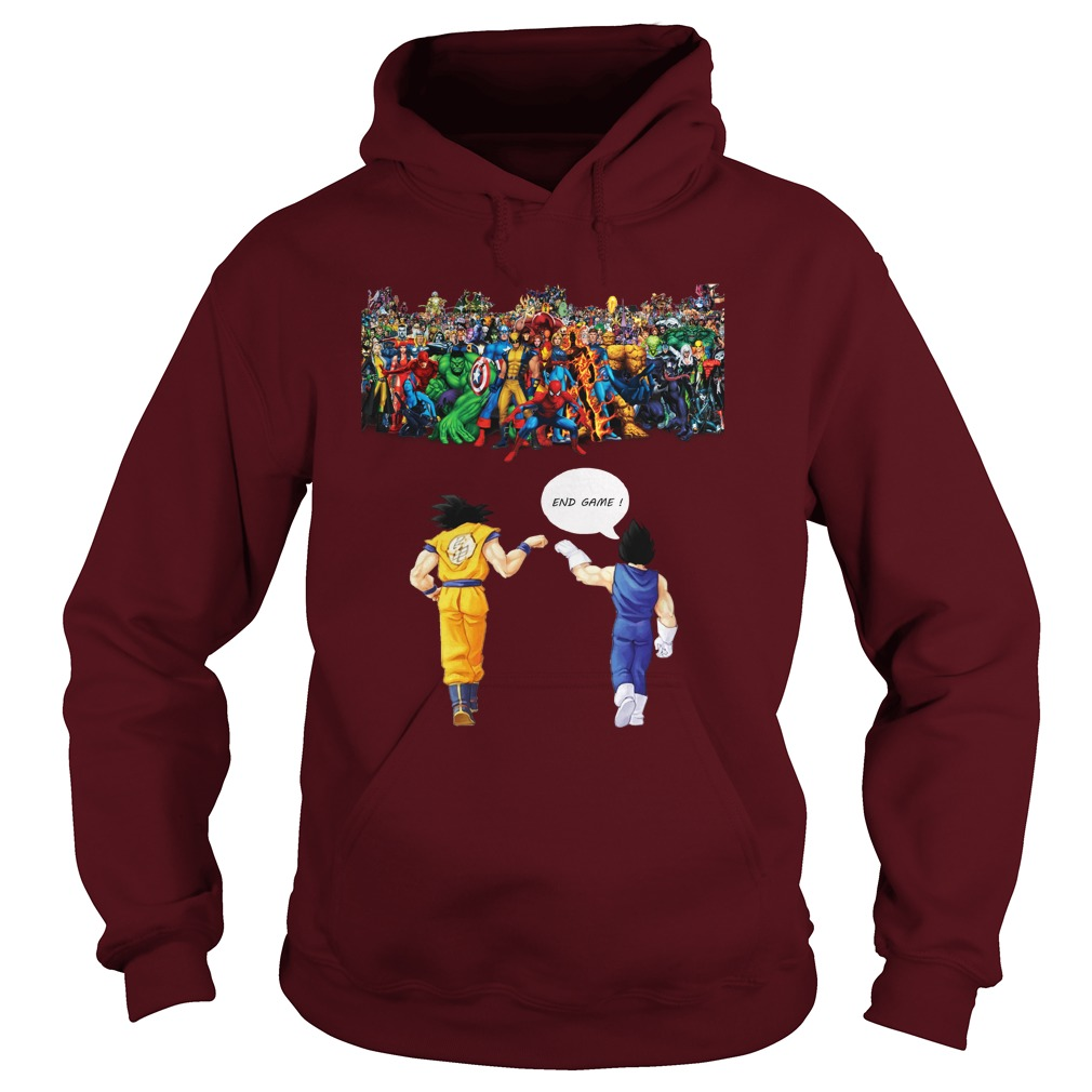 Goku and Vegeta Endgame Marvel Superheroes shirt hoodie