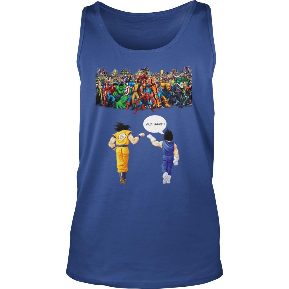 Goku and Vegeta Endgame Marvel Superheroes shirt unisex tank top