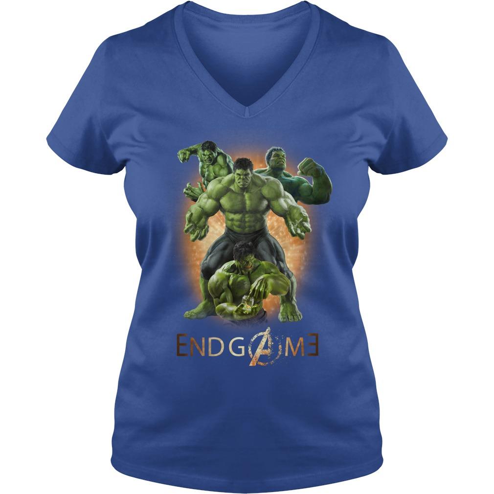 Hulk Avengers Endgame signature shirt lady v-neck