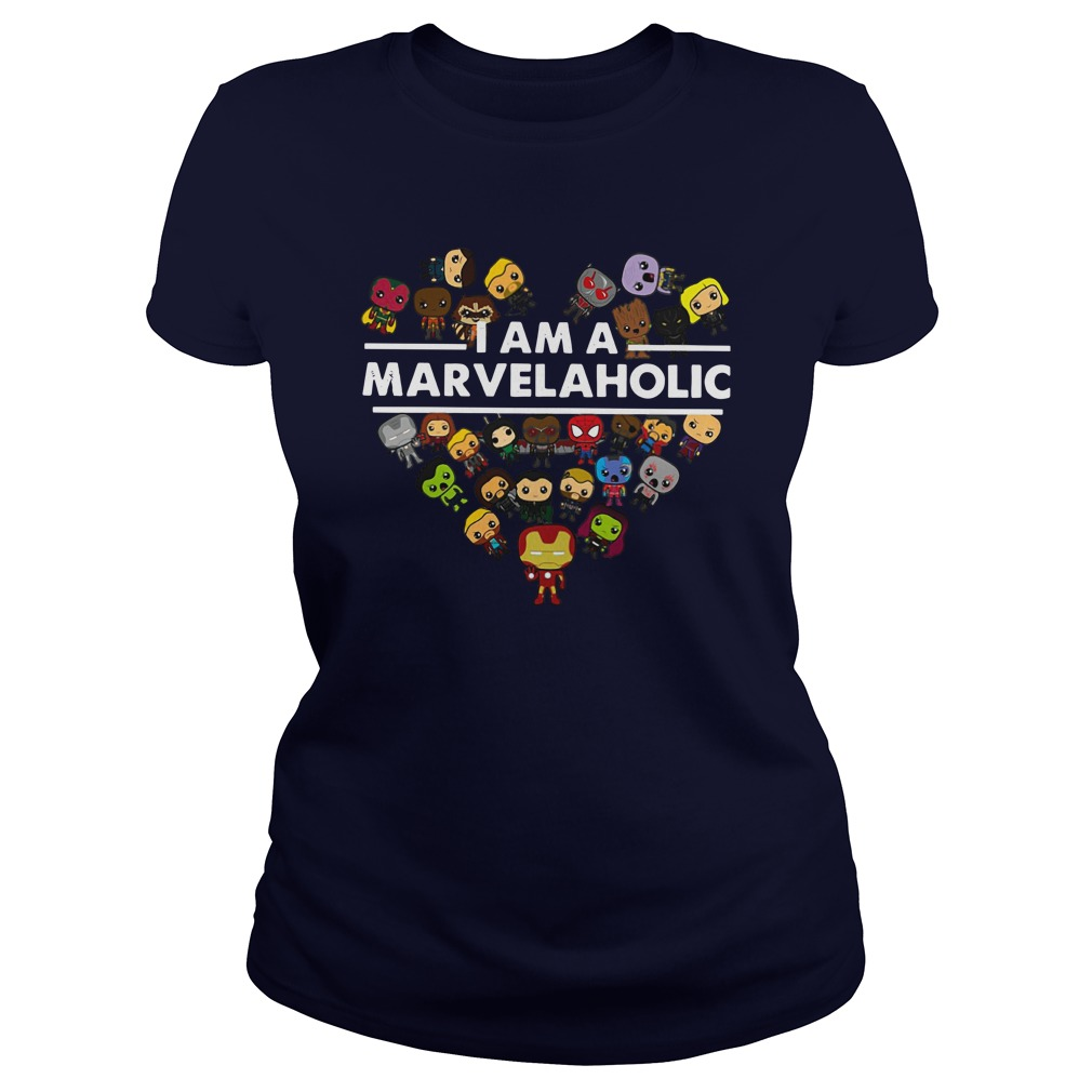 I am a Marvelaholic shirt lady tee