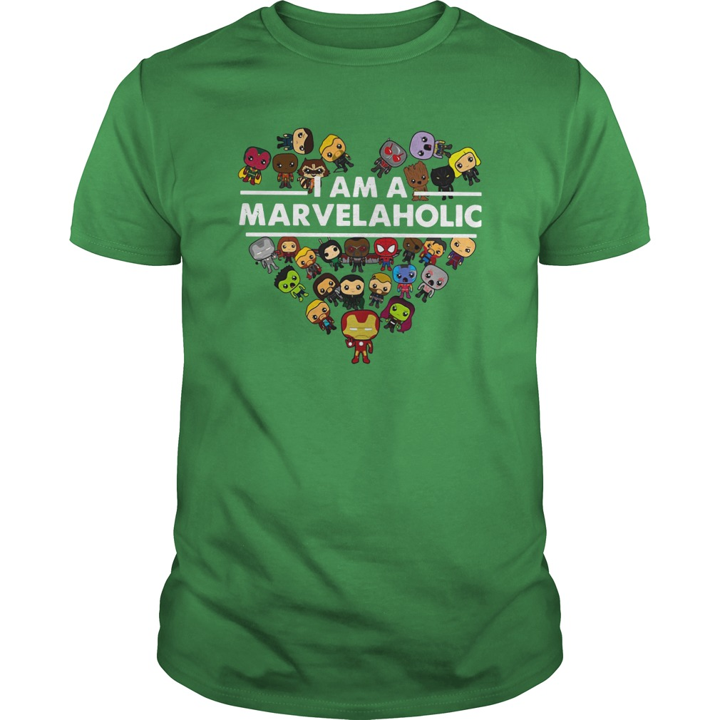 I am a Marvelaholic shirt unisex tee