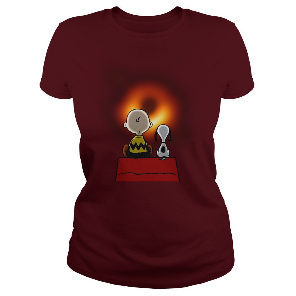 Snoopy and Charlie Brown EHT Black Hole 2019 shirt lady tee