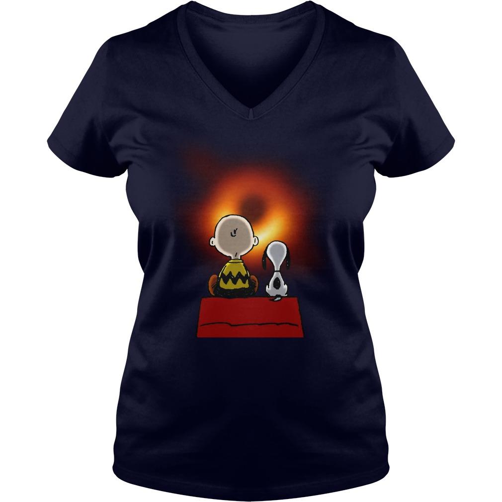 Snoopy and Charlie Brown EHT Black Hole 2019 shirt lady v-neck