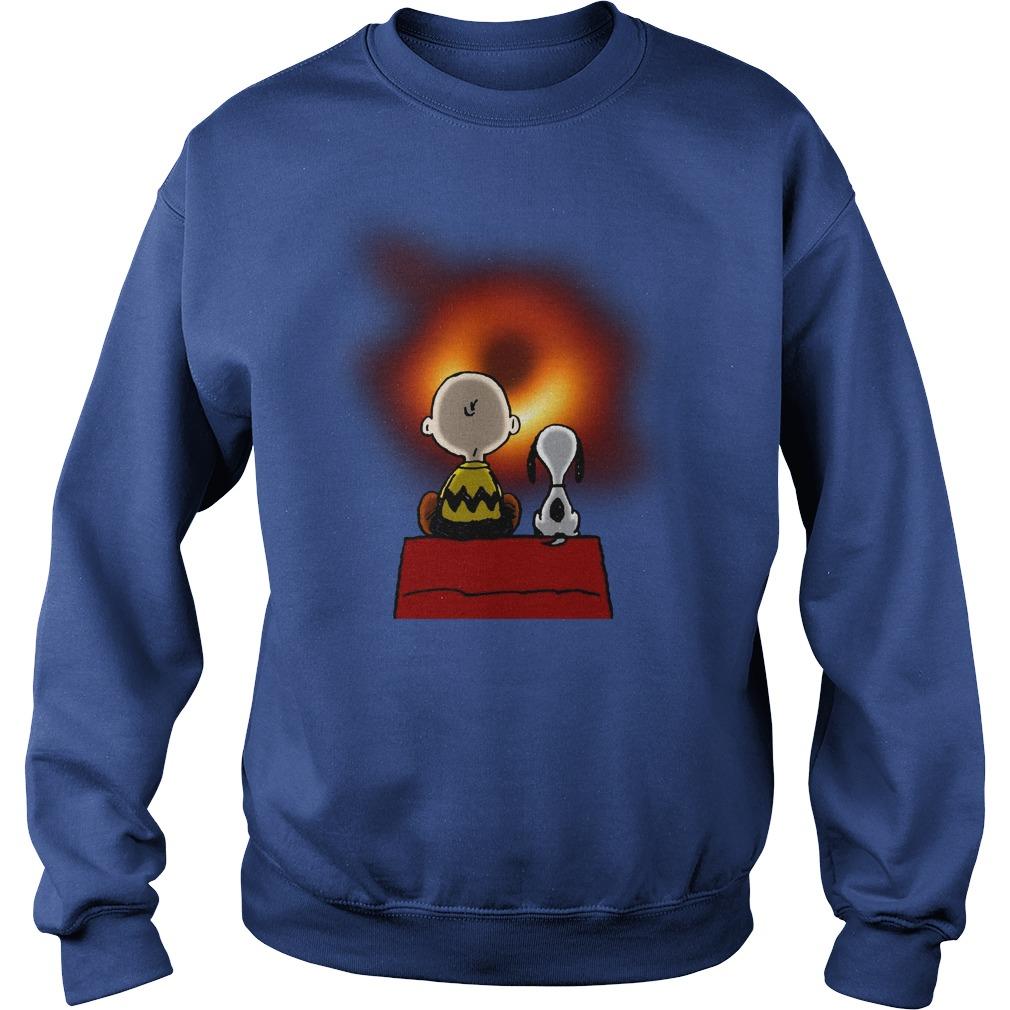 Snoopy and Charlie Brown EHT Black Hole 2019 shirt sweat shirt