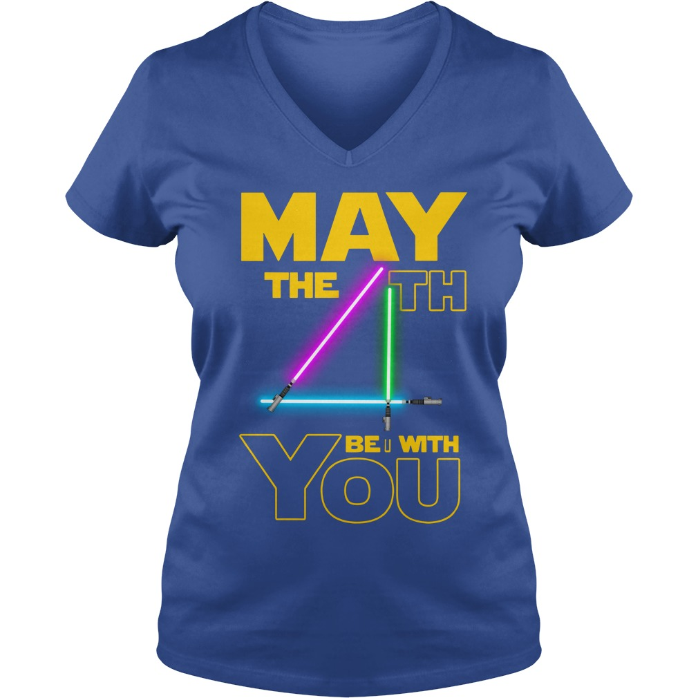 Star wars may the 4th be with you shirt lady v-neck