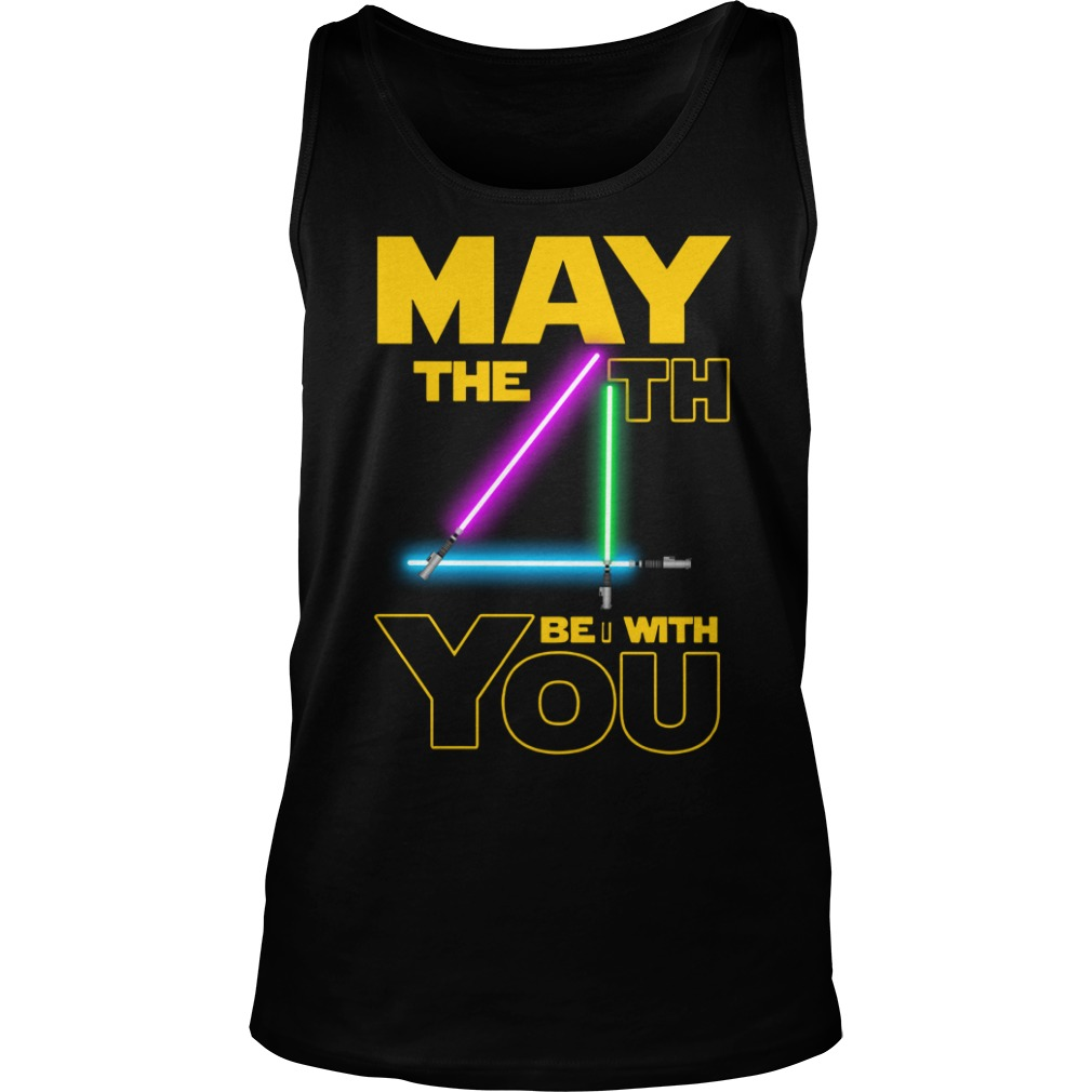 Star wars may the 4th be with you shirt unisex tank top