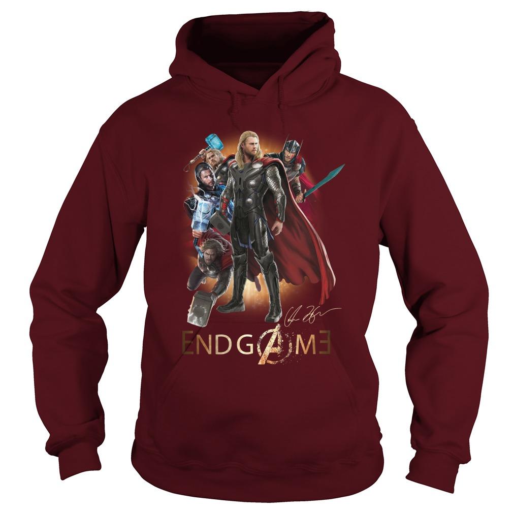 Thor Avengers Endgame signature shirt hoodie