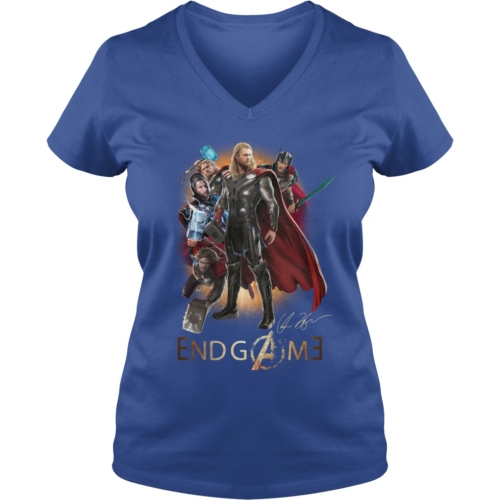 Thor Avengers Endgame signature shirt lady v-neck