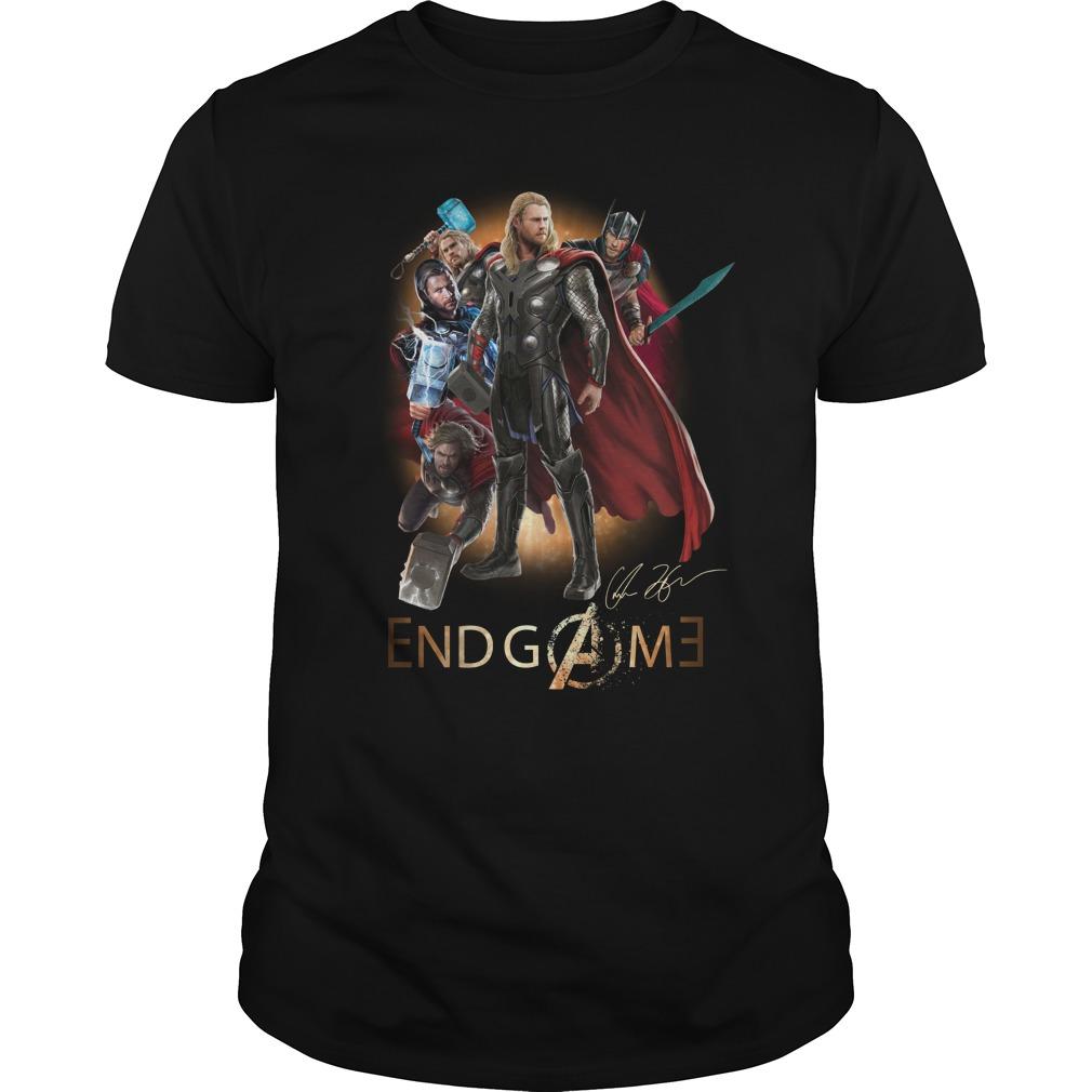 Thor Avengers Endgame signature shirt unisex tee