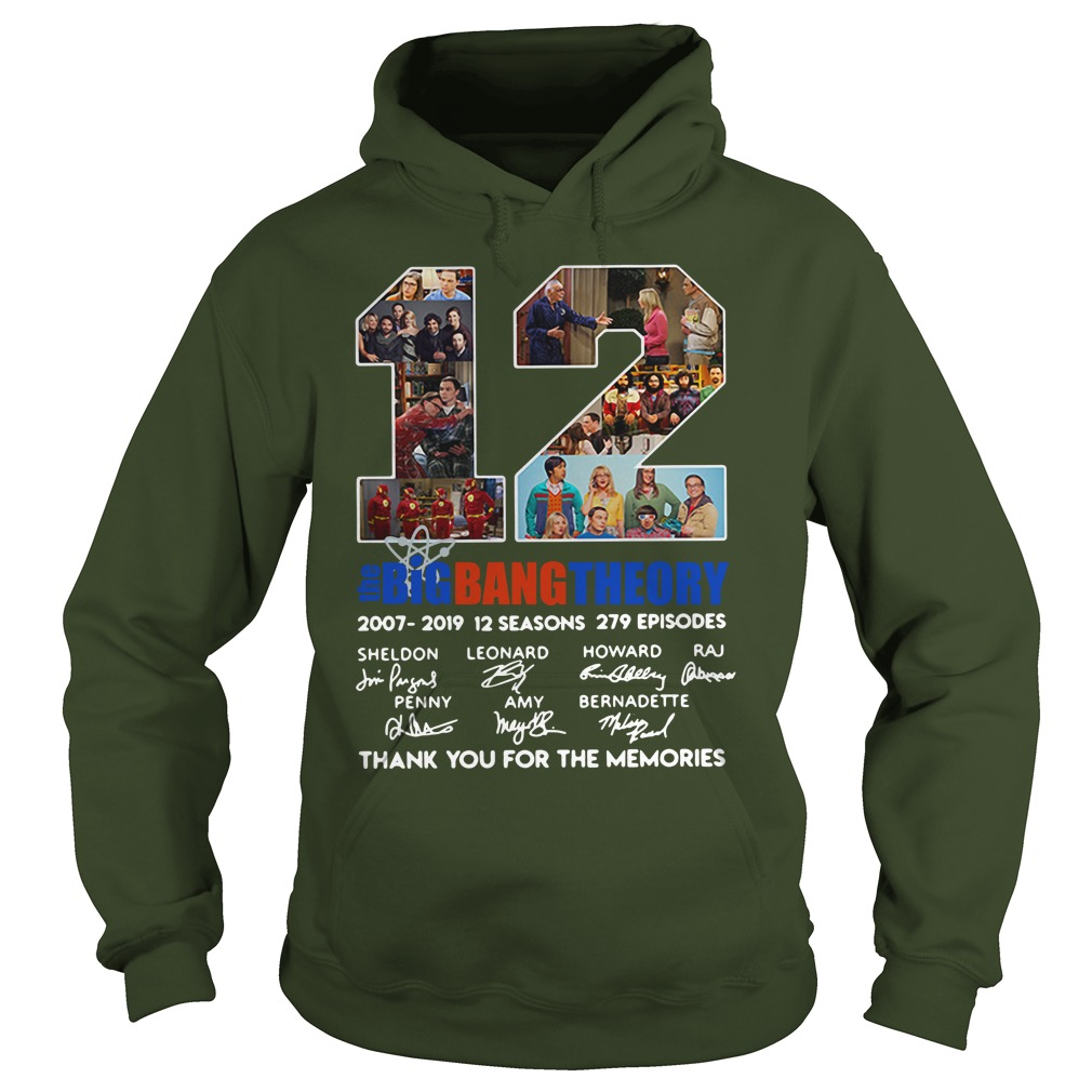 12 years the Big Bang Theory thank you for the memories shirt hoodie