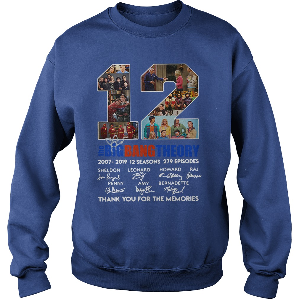 12 years the Big Bang Theory thank you for the memories shirt sweat shirt