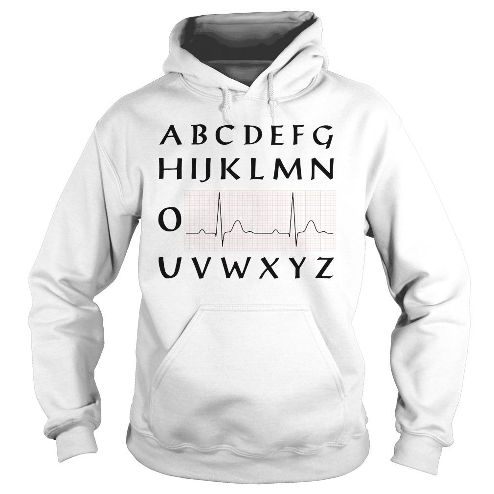 ABCDEFGHIJKLMNO Heartbeat NUSERS shirt hoodie