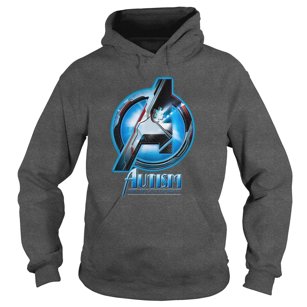 Avengers Autism awareness My superpower shirt hoodie