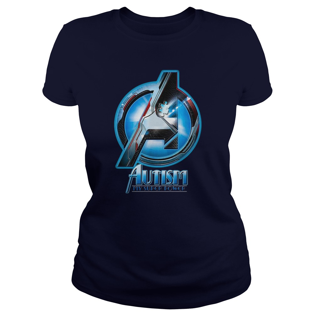 Avengers Autism awareness My superpower shirt lady tee