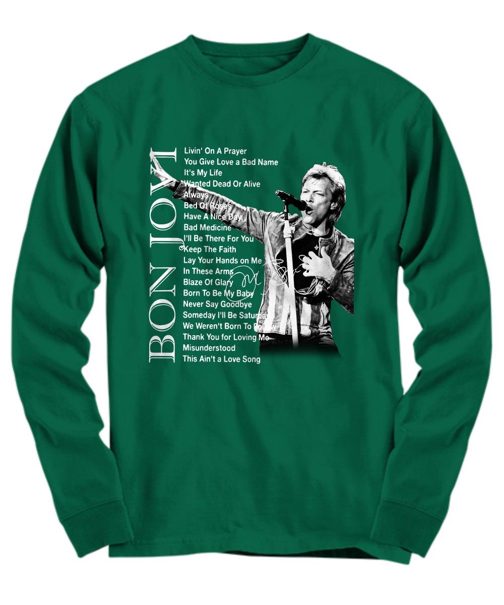 Bon Jovi Livin' on a prayer You give love a bad name shirt long sleeve tee