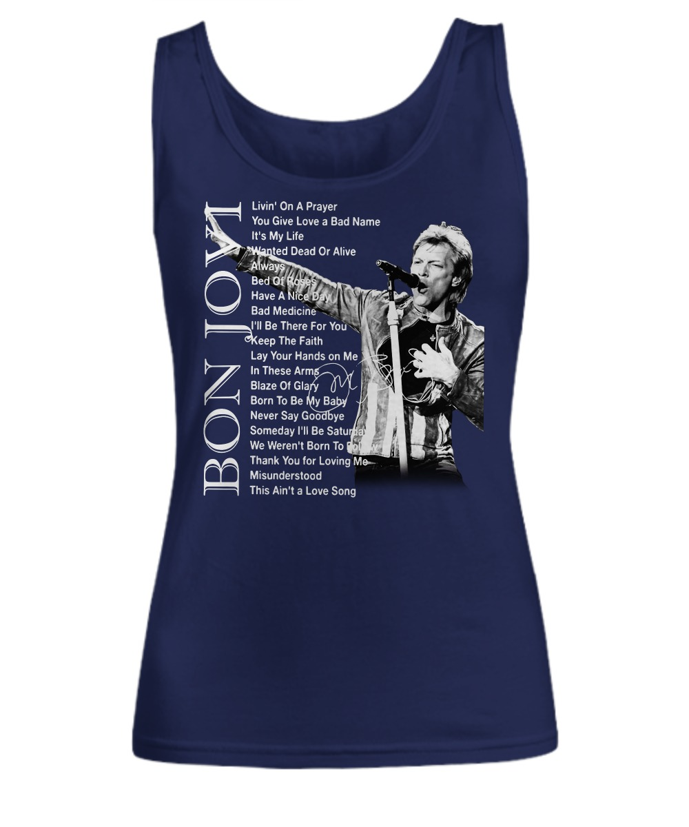 Bon Jovi Livin' on a prayer You give love a bad name shirt tank top