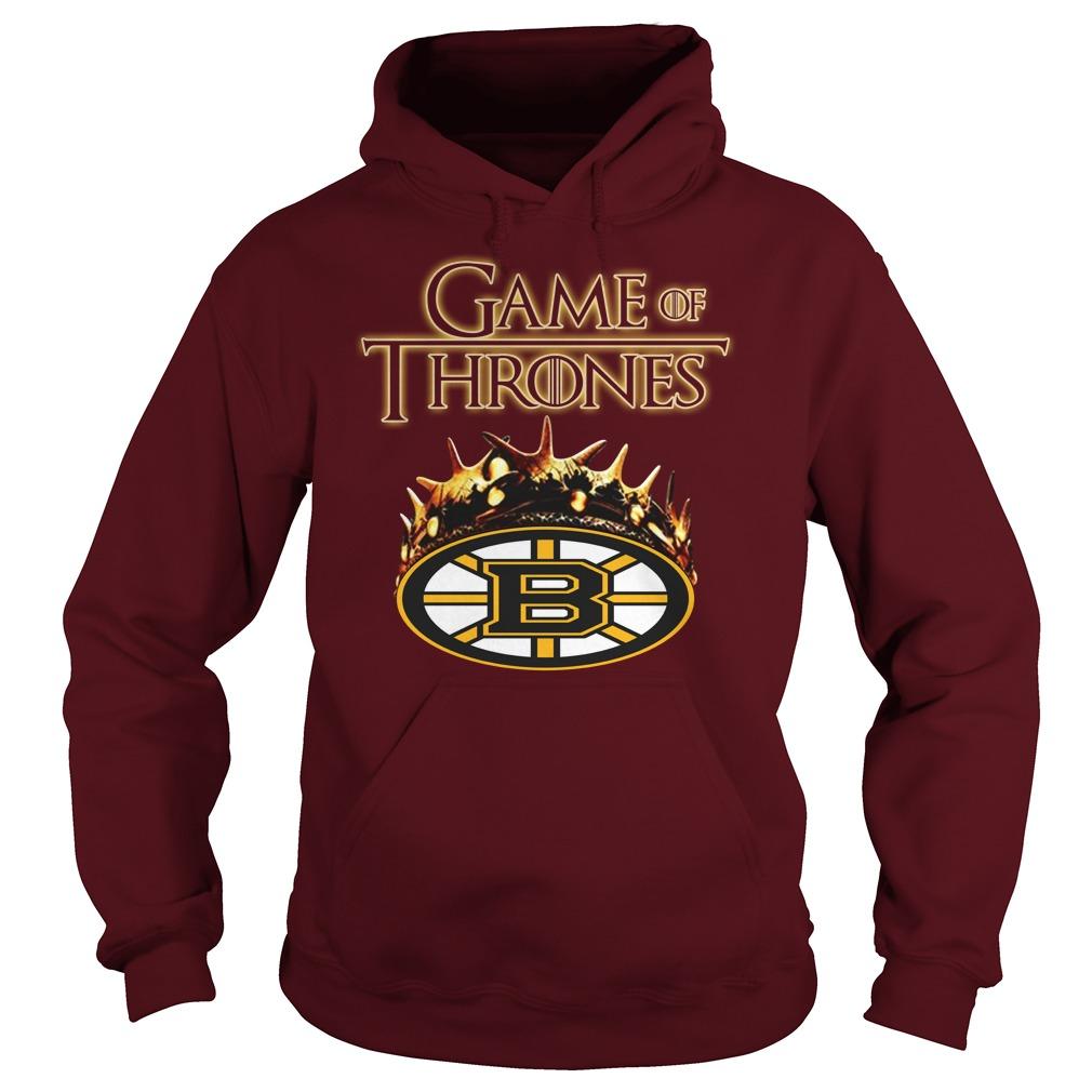 Game of Thrones Crown Boston Bruins shirt hoodie