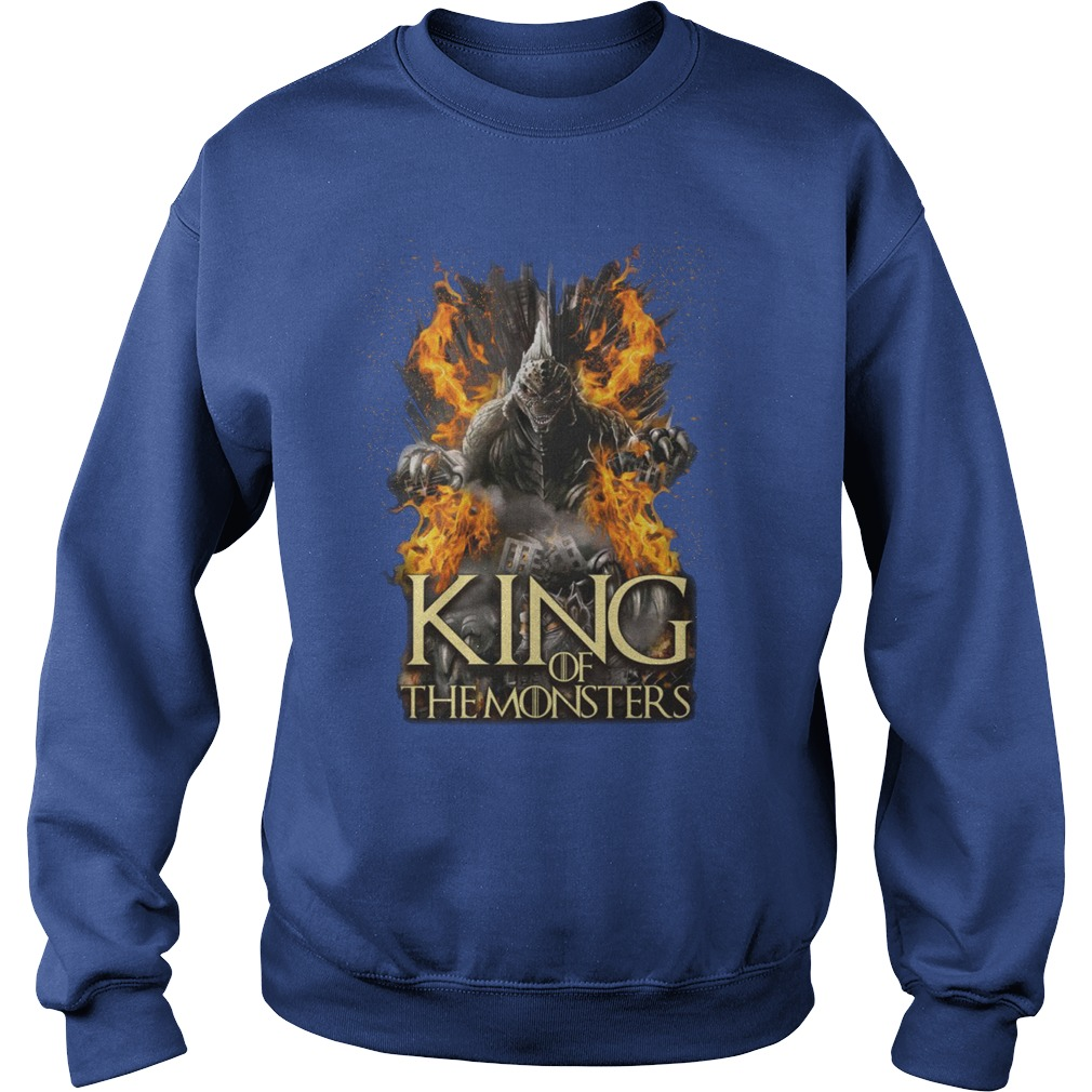 Game of Thrones Godzilla King of the monsters shirt sweat shirt.