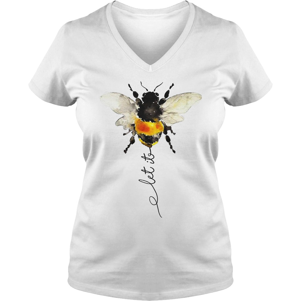 Hippie Bee Let It Be shirt lady v-neck