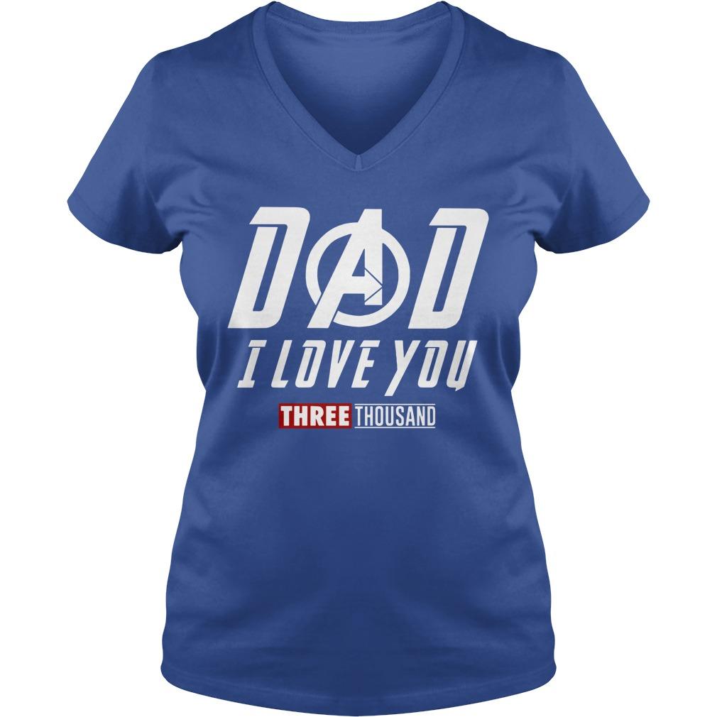 Marvel Dad I Love You 3000 shirt lady v-neck