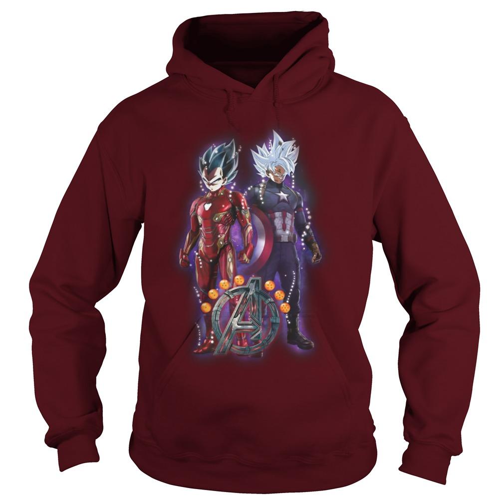 Songoku vs Vegeta Dragon Ball Z Marvel Avengers Endgame shirt hoodie