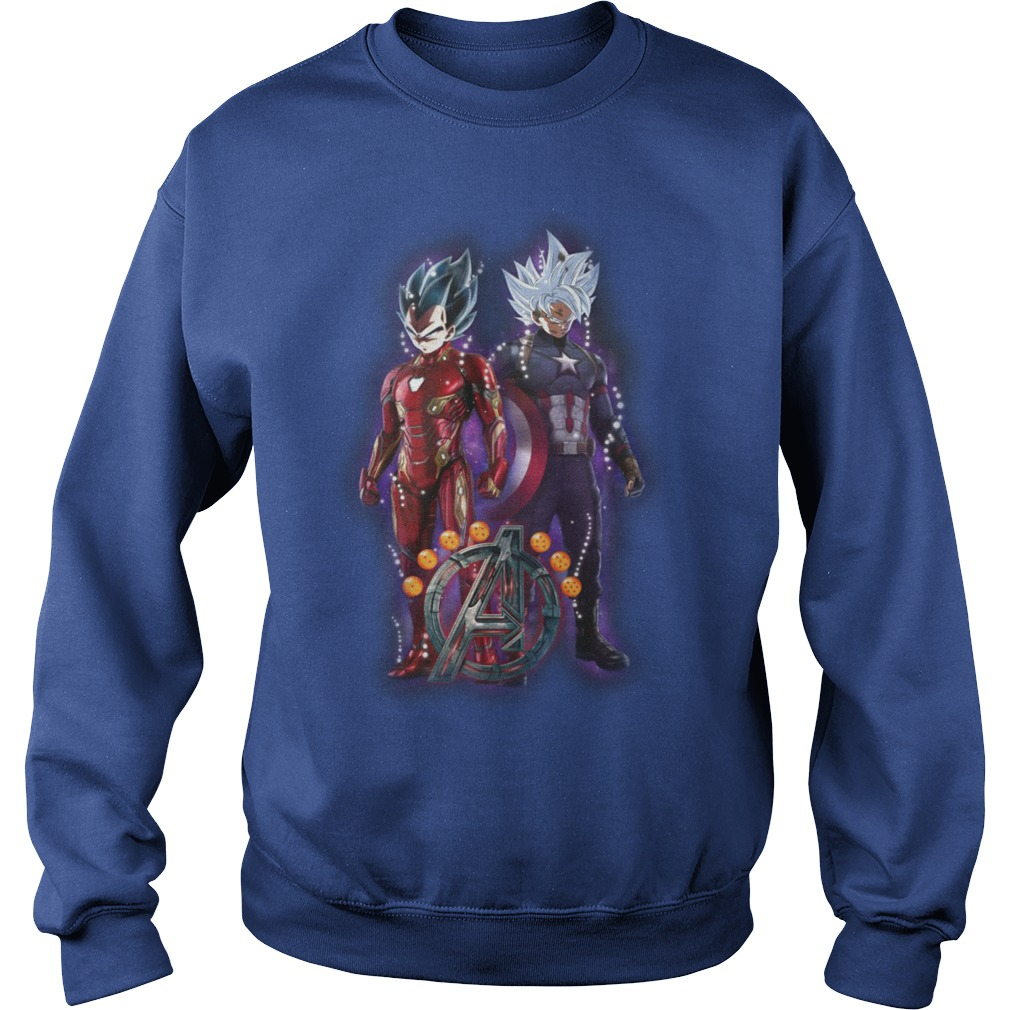 Songoku vs Vegeta Dragon Ball Z Marvel Avengers Endgame shirt sweat shirt
