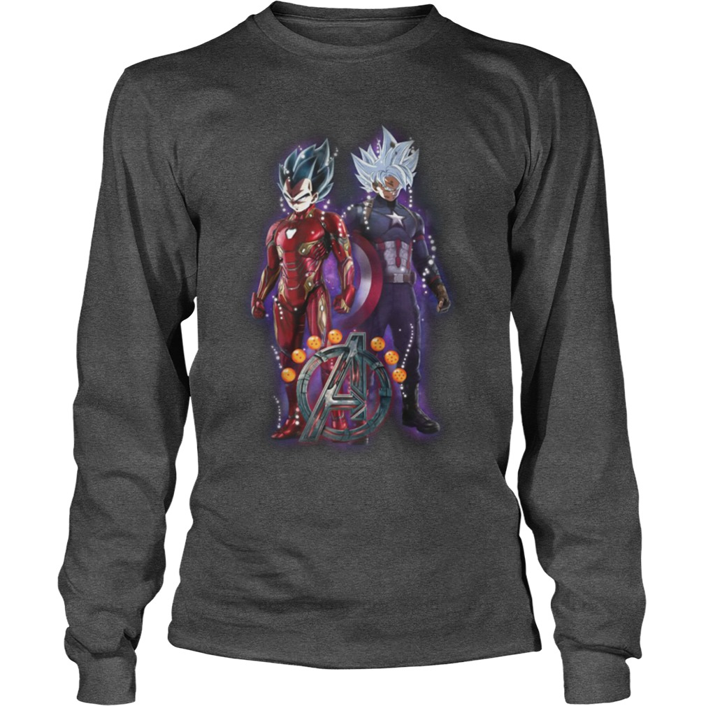 Songoku vs Vegeta Dragon Ball Z Marvel Avengers Endgame shirt unisex longsleeve tee