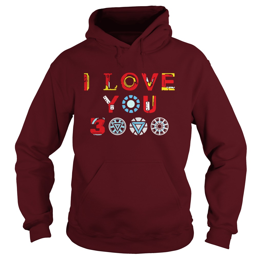 Tony Stark Iron Man I Love You 3000 shirt hoodie
