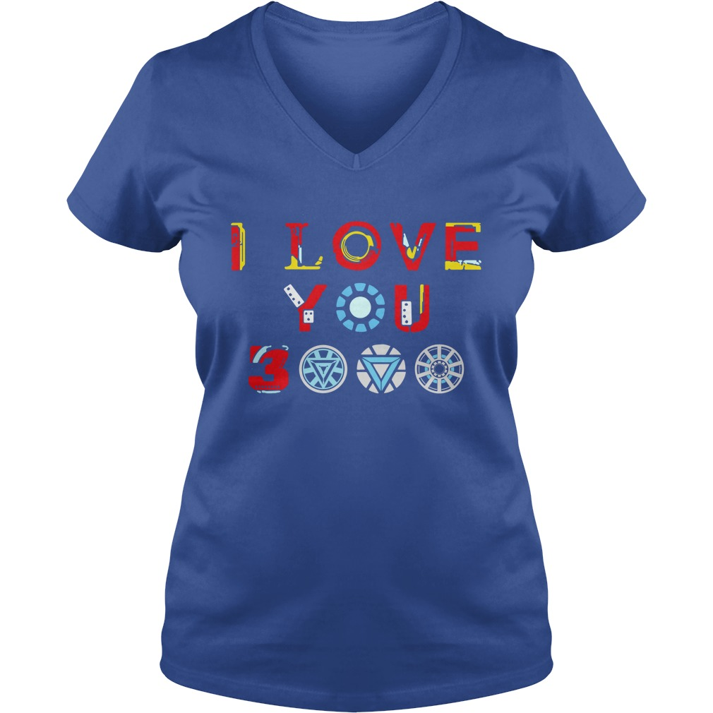 Tony Stark Iron Man I Love You 3000 shirt lady v-neck