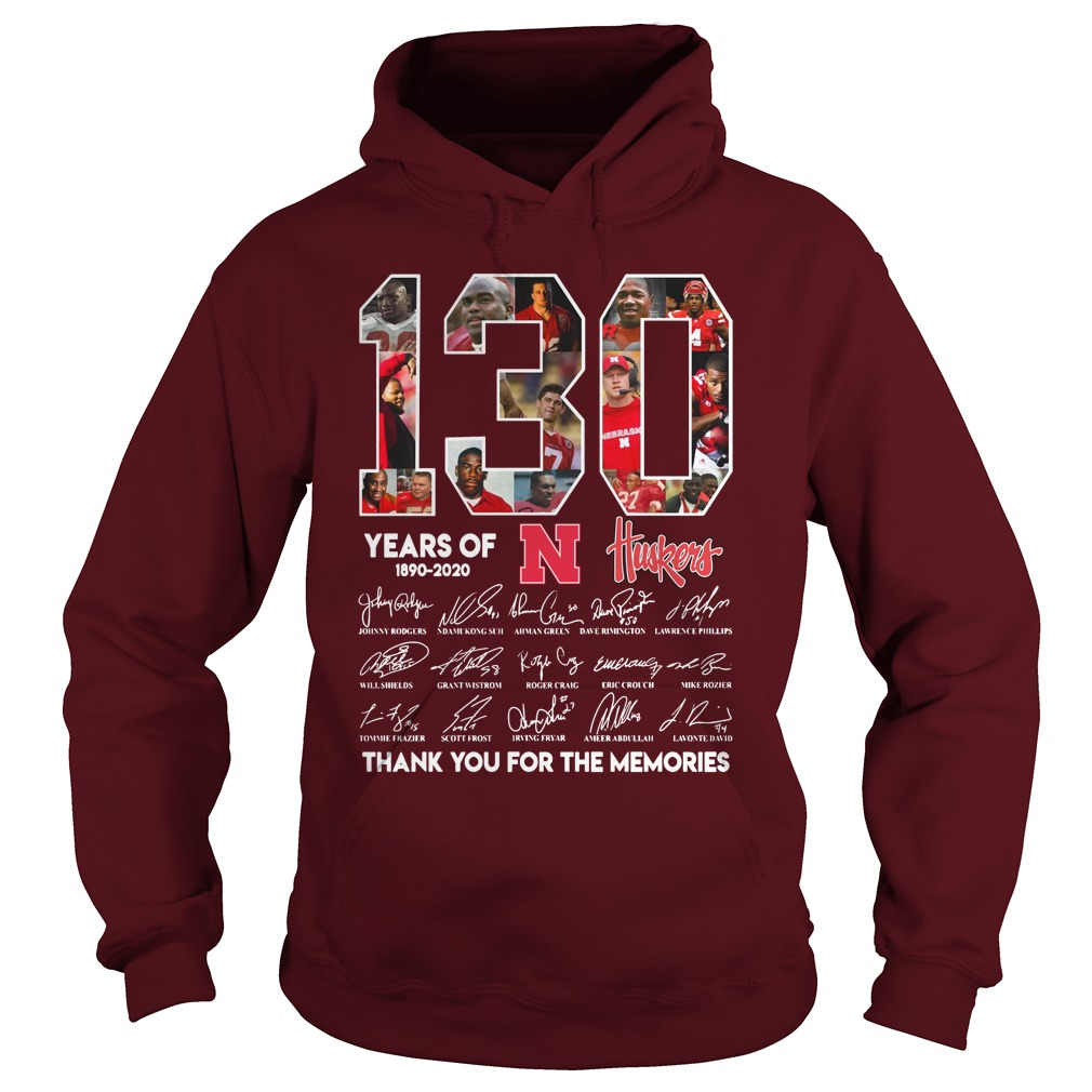 130 years of Nebraska Cornhuskers football signatures shirt hoodie