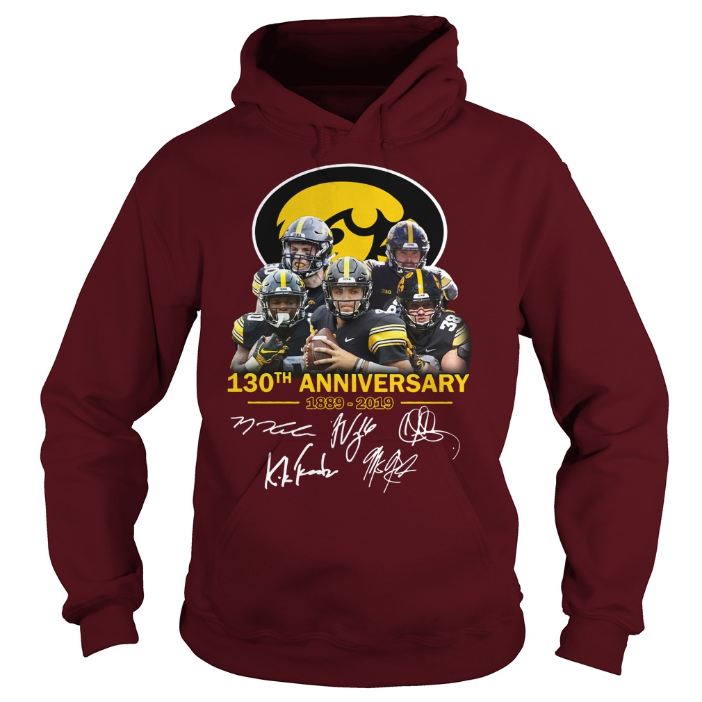 130th anniversary of Iowa Hawkeyes signature shirt hoodie