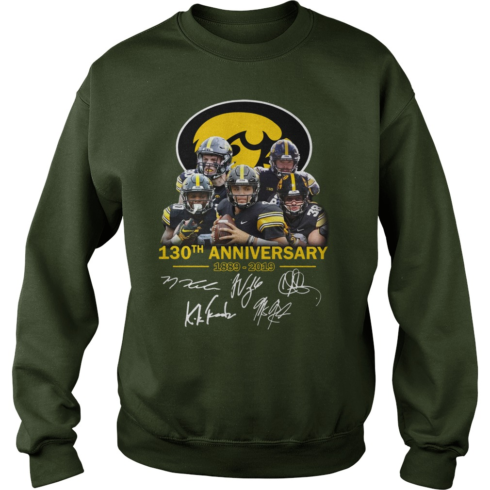 130th anniversary of Iowa Hawkeyes signature shirt sweat shirt