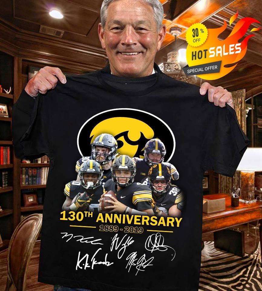 130th anniversary of Iowa Hawkeyes signature shirt