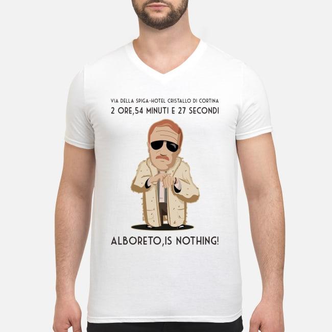 2 ore, 54 minuti e 27 secondi... Alboreto is nothing shirt men's v-neck t-shirt