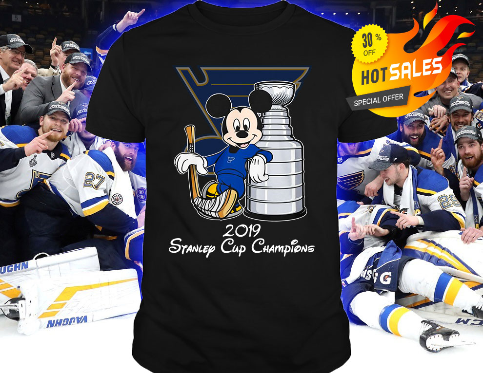 Blue Mickey St Louis Blues 2019 Stanley Cup Champions shirt