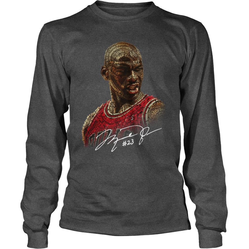 Michael Jordan signature shirt unisex longsleeve tee