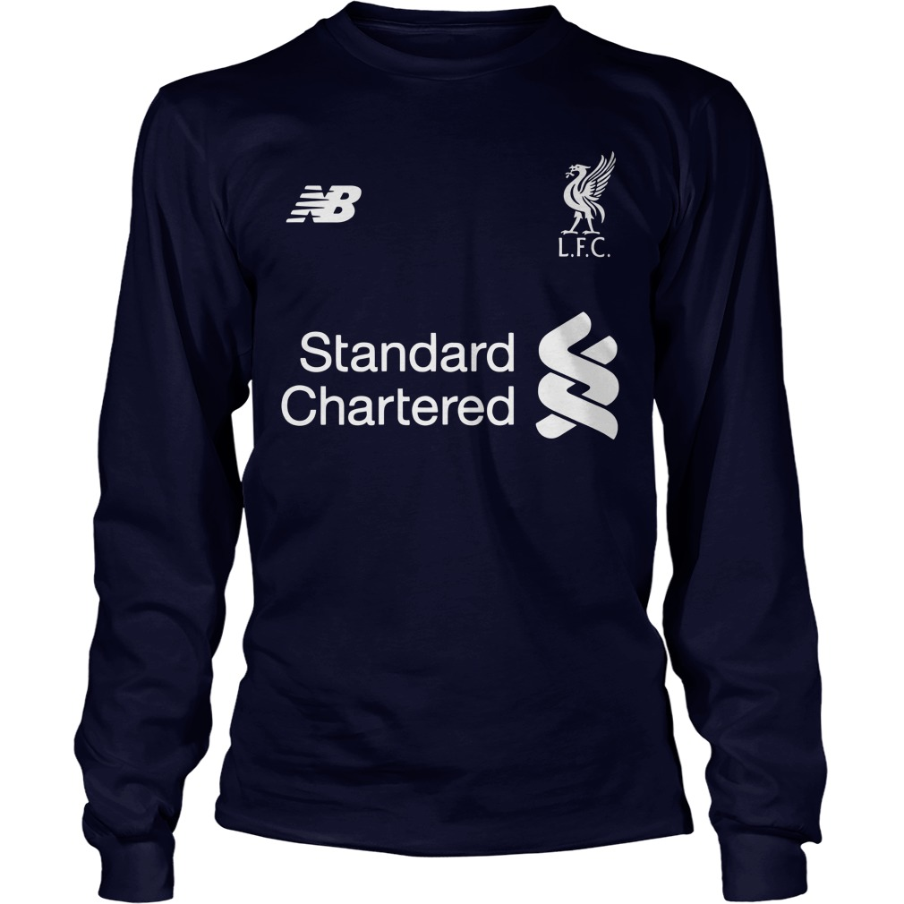 UEFA Champions League cup Liverpool player name typography shirt unisex longsleeve tee