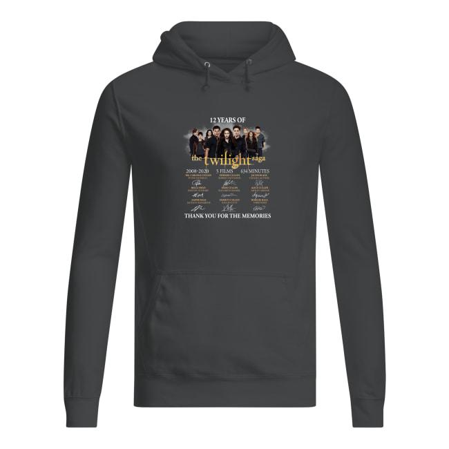12 Years Of The Twilight Saga 2008-2020 5 Films 634 Minutes Signatures shirt women's hoodie