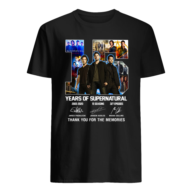 15 years of supernatural Thank you for the memories signature shirt classic men's t-shirt