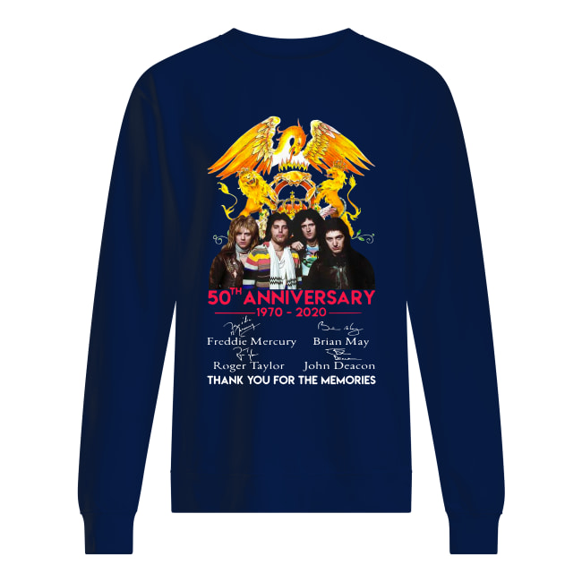 50th anniversary 1970-2020 Thank you for the memories Queen Signatures Version shirt unisex sweatshirt