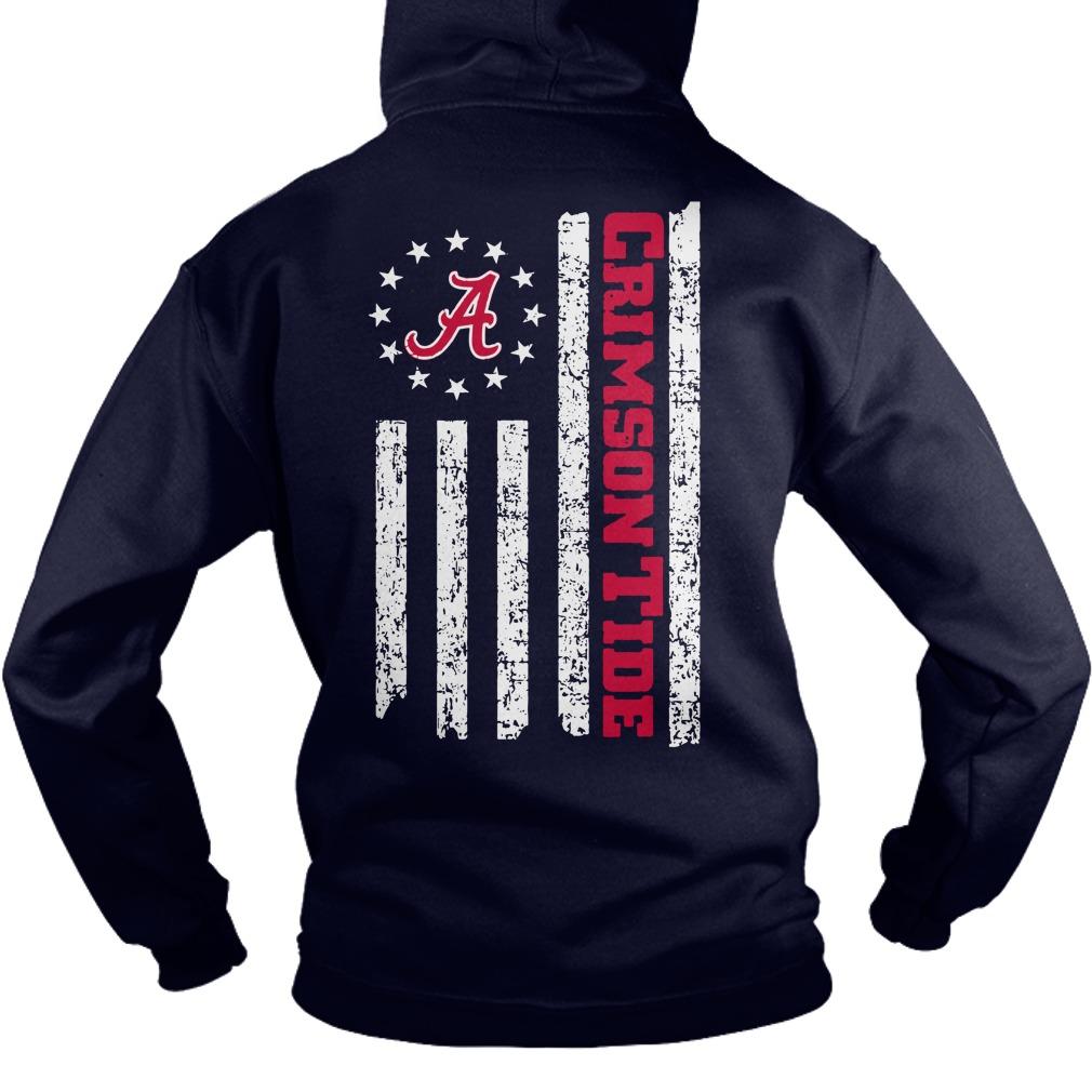 Alabama Crimson Tide American Flag shirt hoodie