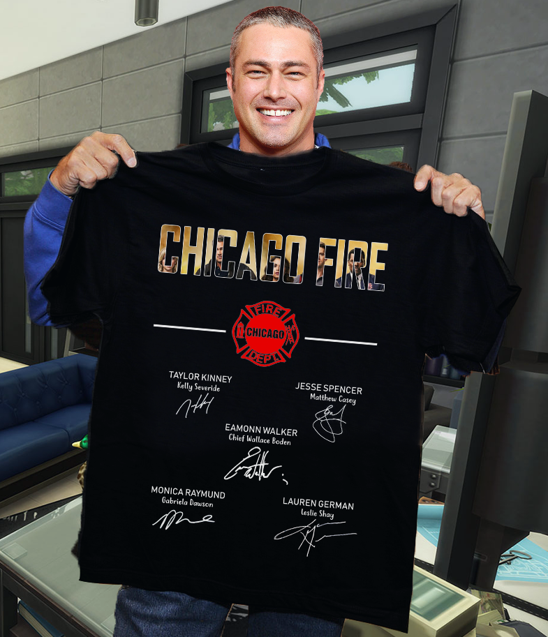 Chicago fire signature shirt -banner
