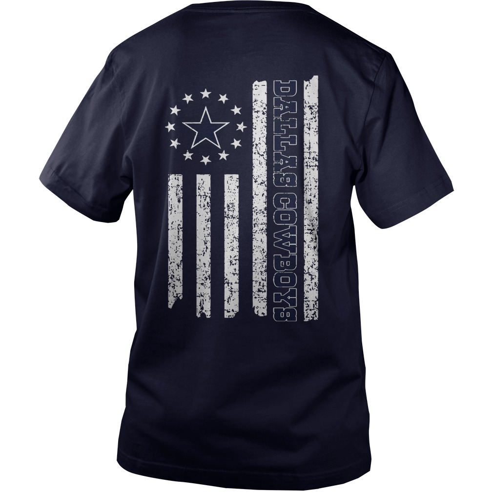 Dallas Cowboys American Flag shirt guy v-neck