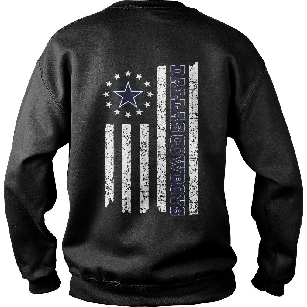Dallas Cowboys American Flag shirt sweat shirt