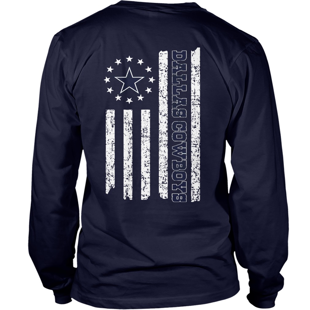 Dallas Cowboys American Flag shirt unisex longsleeve tee