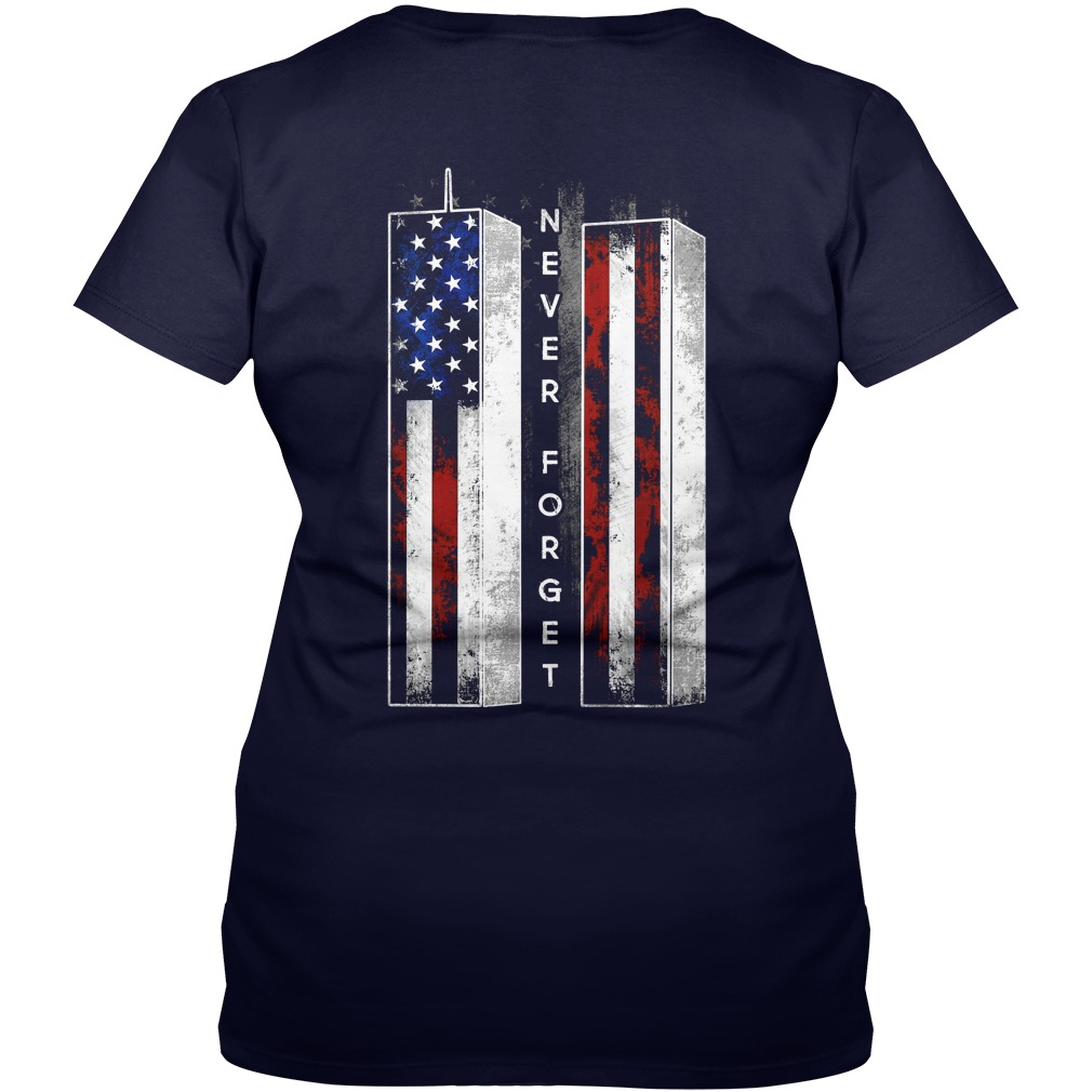 Never Forget American Flag shirt lady v-neck