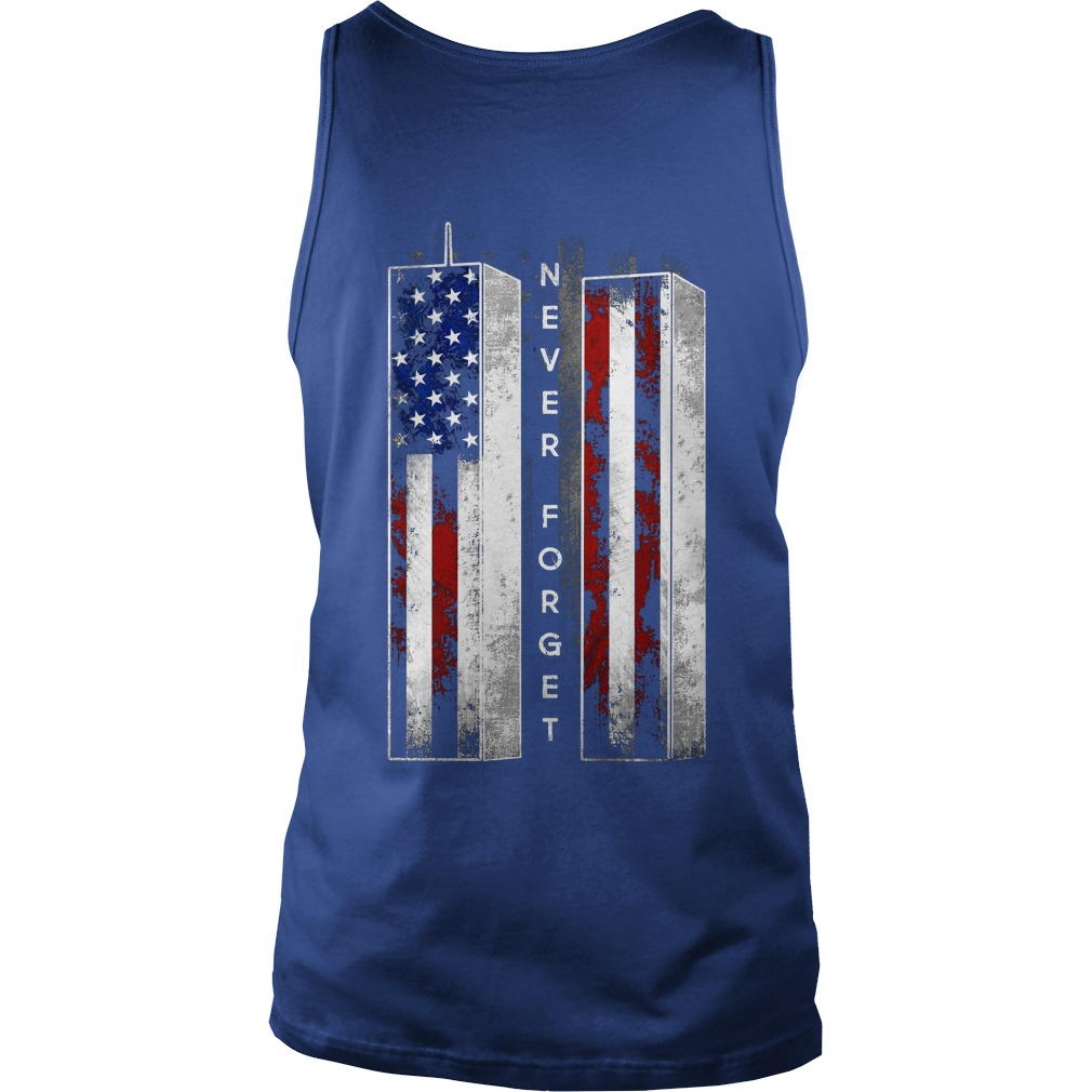 Never Forget American Flag shirt unisex tank top
